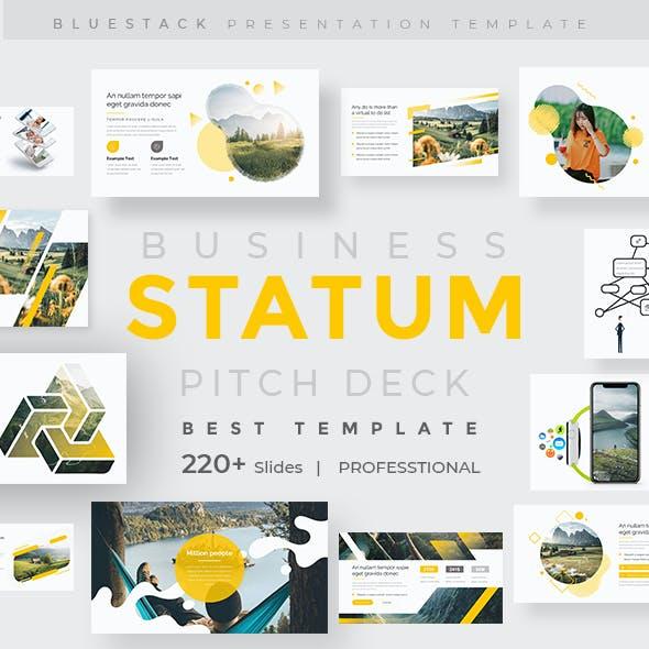 Statum Pitch Deck Powerpoint Template