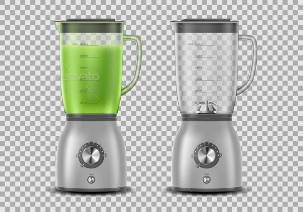 Set of Realistic Juicer Blenders - Food Objects