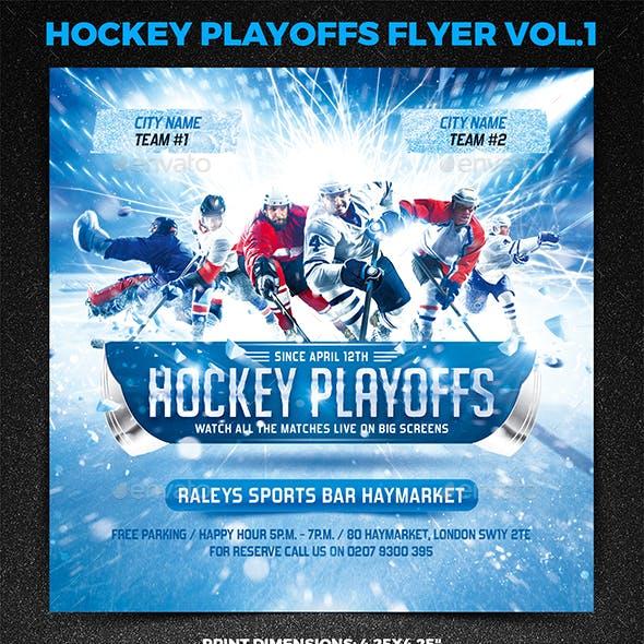 Hockey Playoffs Square Flyer vol.1