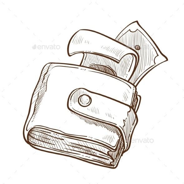 Cash in Wallet - Miscellaneous Vectors