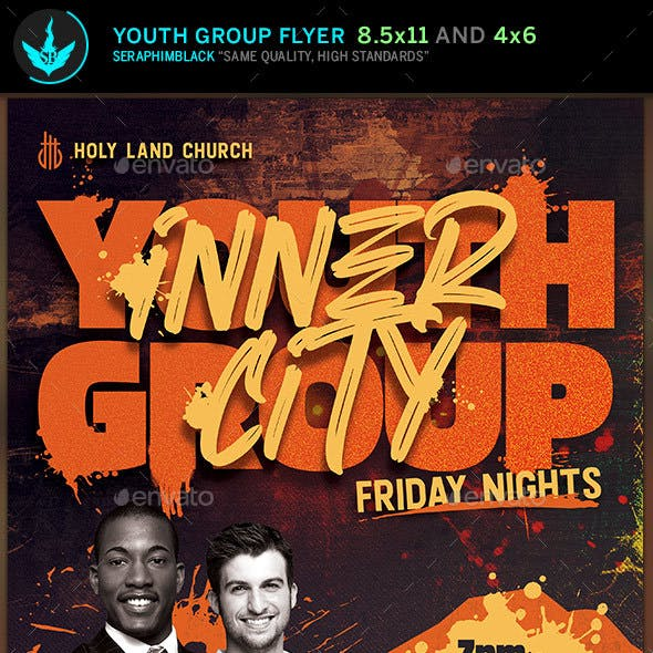 Inner City Youth Group Flyer Template