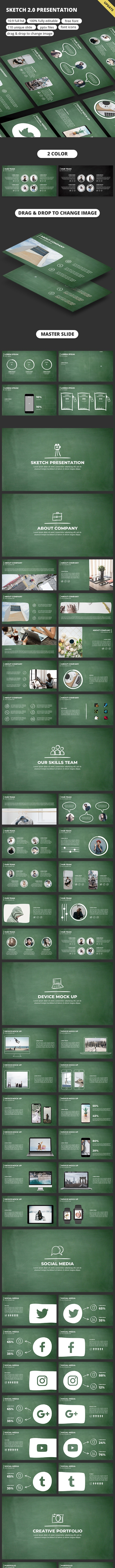 Sketch 2.0 - PowerPoint Template - Business PowerPoint Templates