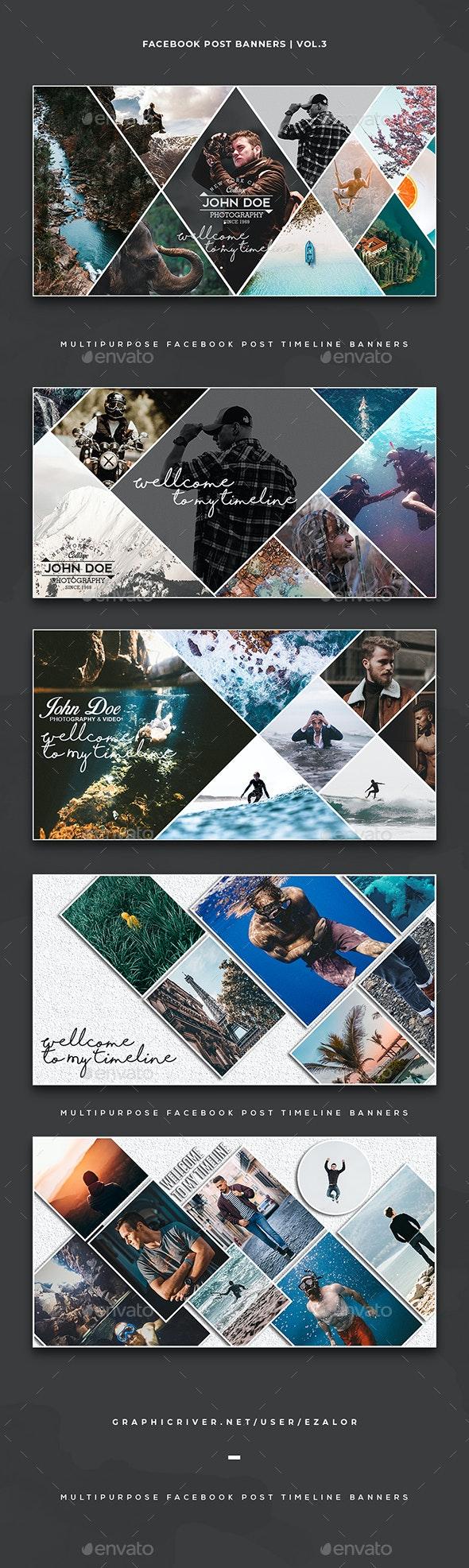 Facebook Post Banners Vol. 3 - Facebook Timeline Covers Social Media