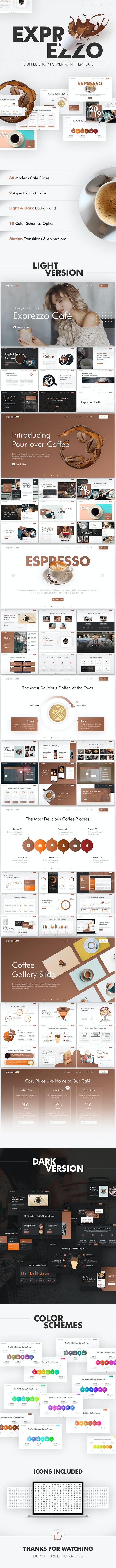 Exprezzo Cafe PowerPoint Template - PowerPoint Templates Presentation Templates
