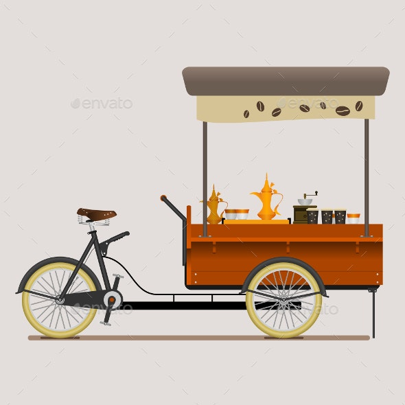 Mobile Coffee Bike Shop with Arabian Brewing Style - Concepts Business