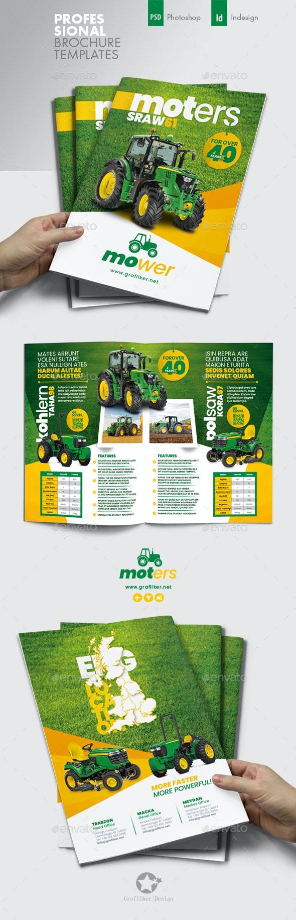 Vehichle Mower Brochure Templates - Corporate Brochures
