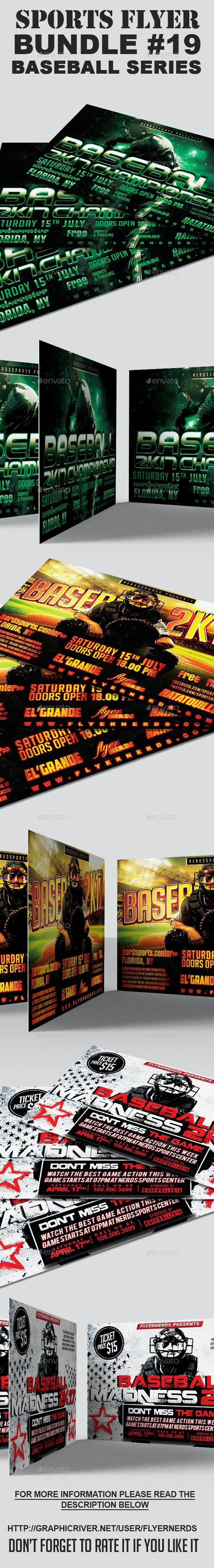 Sports Flyer Bundle 19 Baseball Series - Sports Events