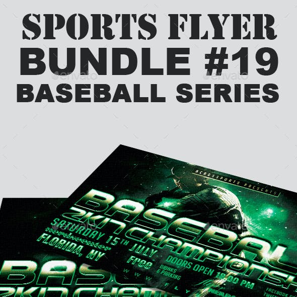 Sports Flyer Bundle 19 Baseball Series
