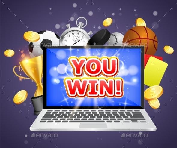 Betting Winner Vector Poster Banner Design - Sports/Activity Conceptual