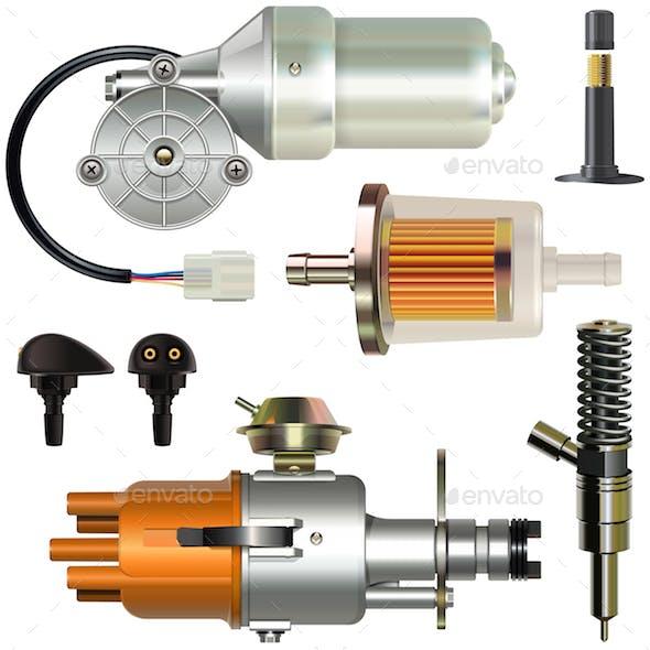 Vector Car Parts Set 1
