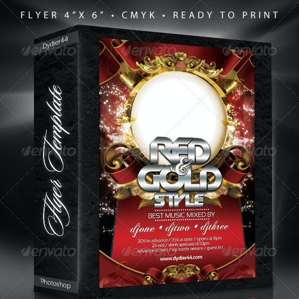 Colors and Gold (Flyer Template 4x6 )
