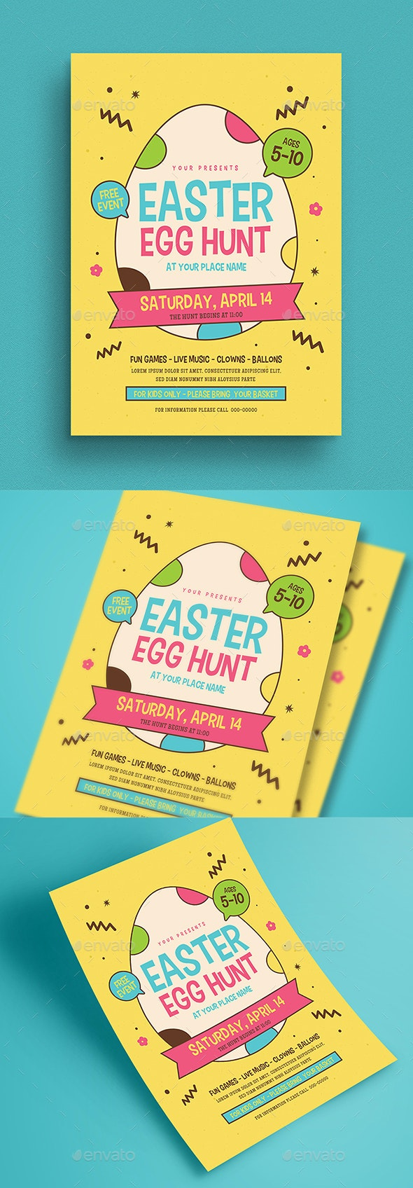 Easter Egg Hunt Event Flyer - Events Flyers