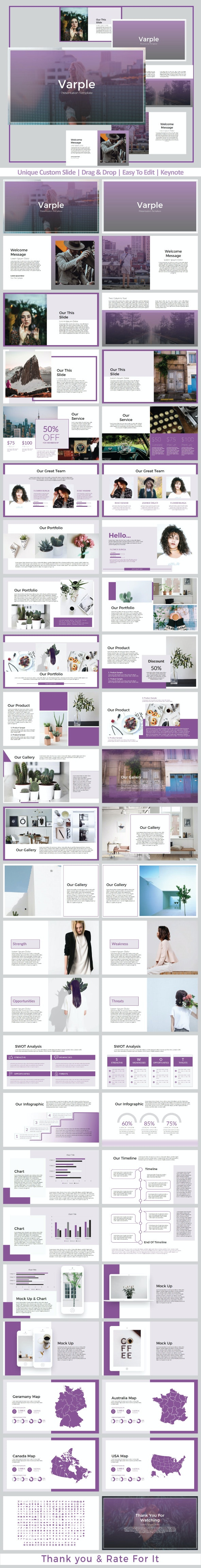 Varple Keynote Templates - Creative Keynote Templates