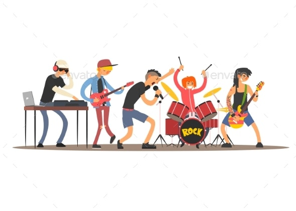 Musicians on a Concert - People Characters