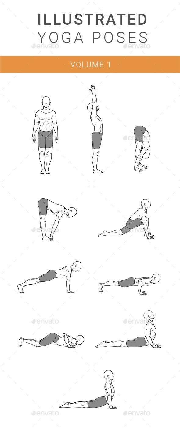 Detailed Yoga Illustration Vol 1 - People Characters