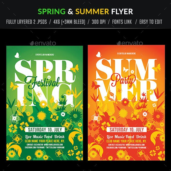 Spring and Summer Flyer Template