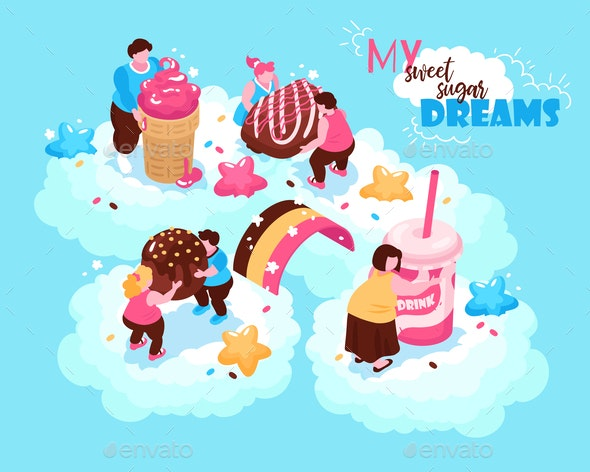 Sweets Heaven Dreams Background - Food Objects