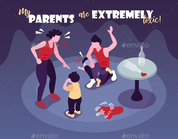 Extremely Toxic Parents Background - People Characters