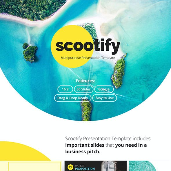 Scootify Business Presentation Template Google Slides
