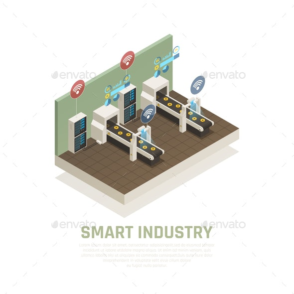 Smart Industry Concept - Industries Business