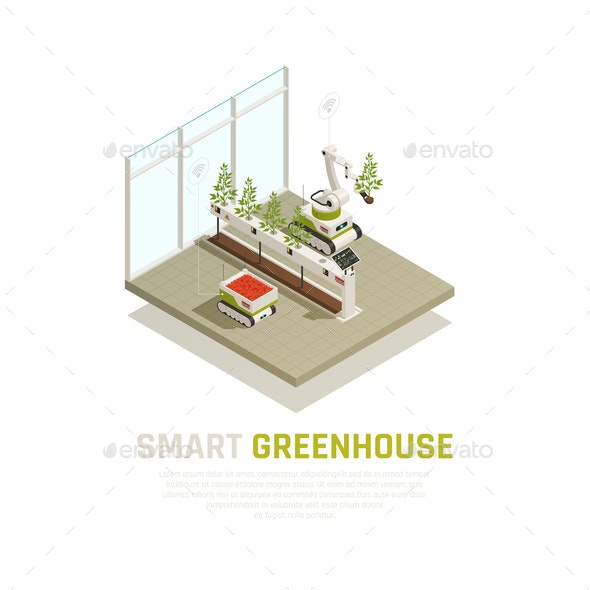 Smart Greenhouse Concept - Food Objects