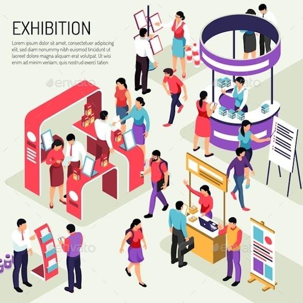 Exhibition Isometric Expo Background