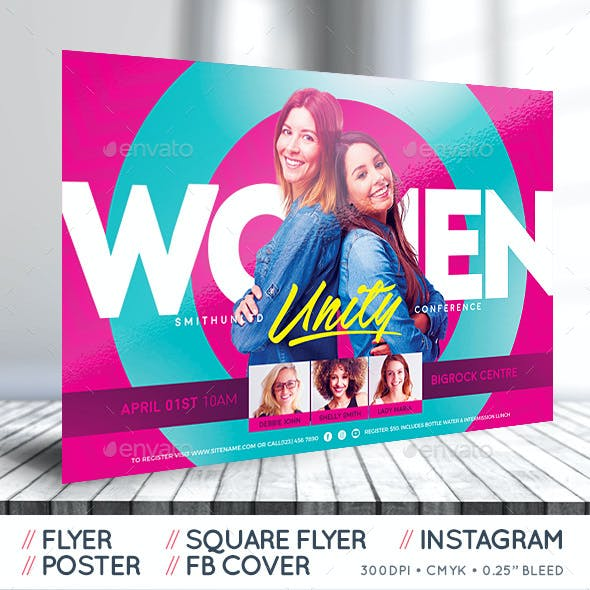 Women's Conference Flyer - Unity - Complete Set