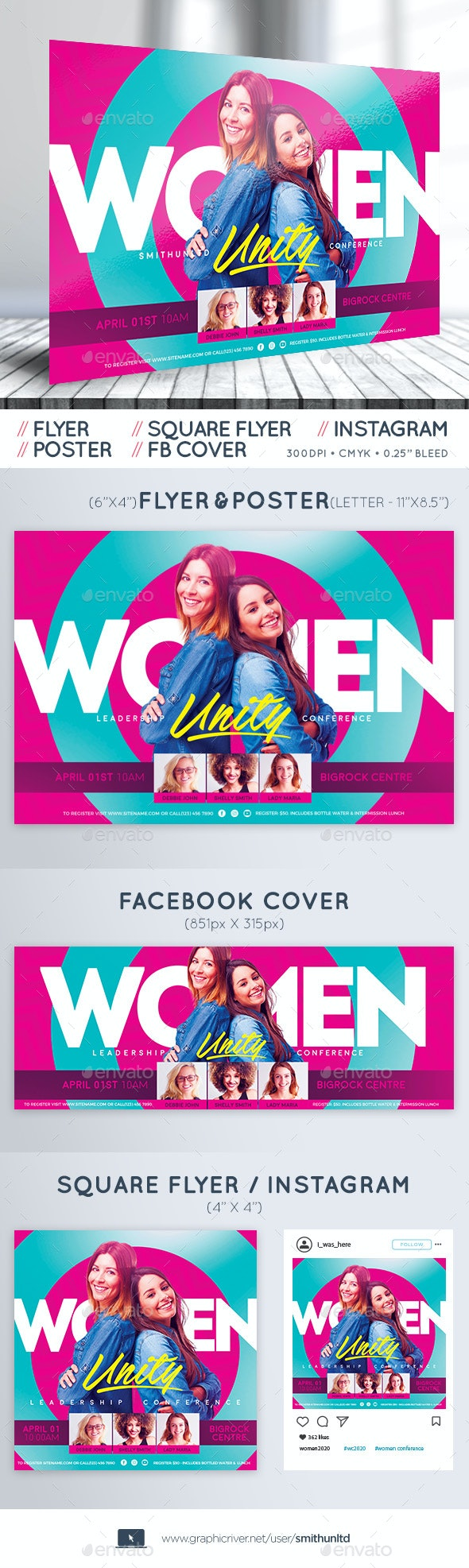 Women's Conference Flyer - Unity - Complete Set - Miscellaneous Events
