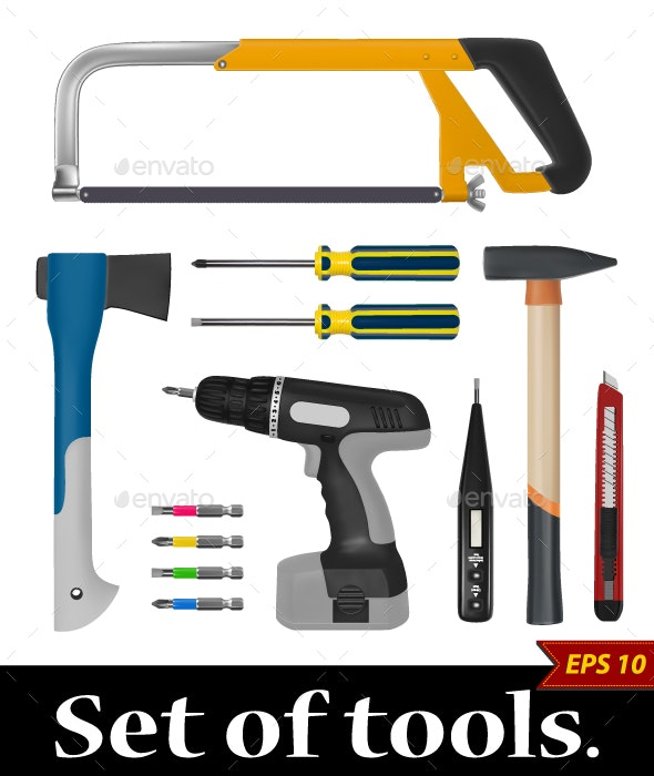 Set of Tools - Man-made Objects Objects