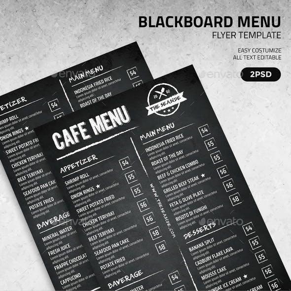 Blackboard Menu Flyer Template