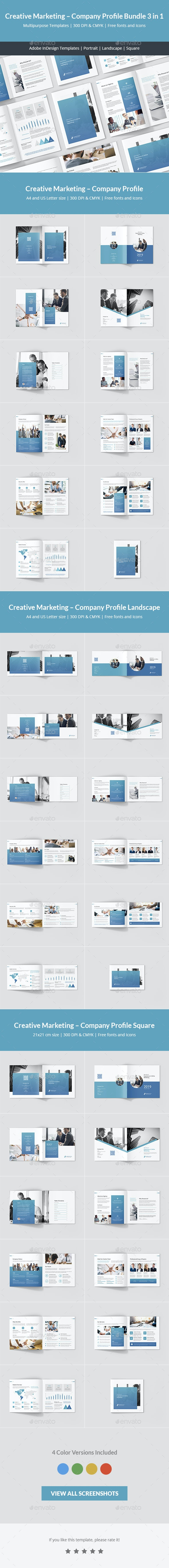 Creative Marketing – Company Profile Bundle 3 in 1 - Corporate Brochures
