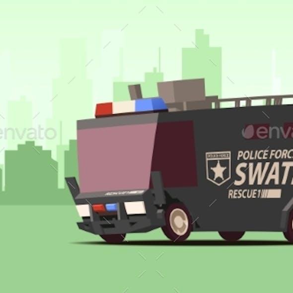 Police Van Armored Special Forces Vehicle SWAT