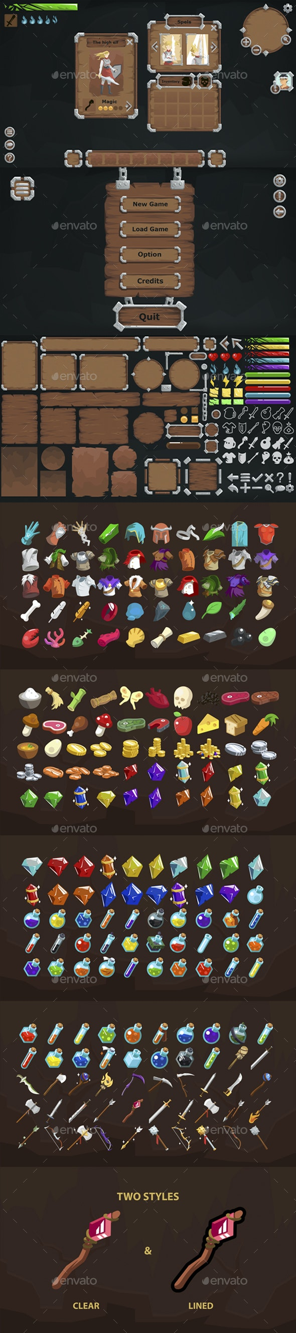 Shiny Stone Graphic User Interface - User Interfaces Game Assets