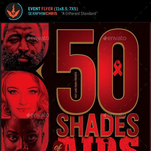 50 Shades of AIDS Charity Awareness Flyer Template