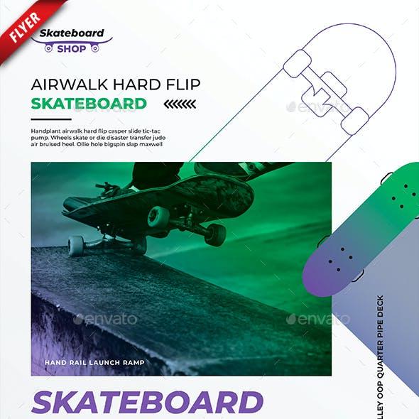 Skateboard Shop Business Flyer