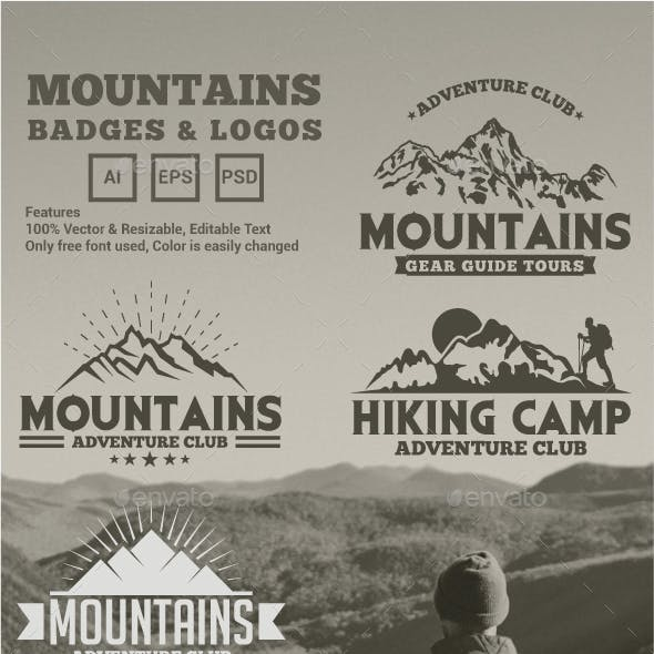 Mountains Logos and Badges