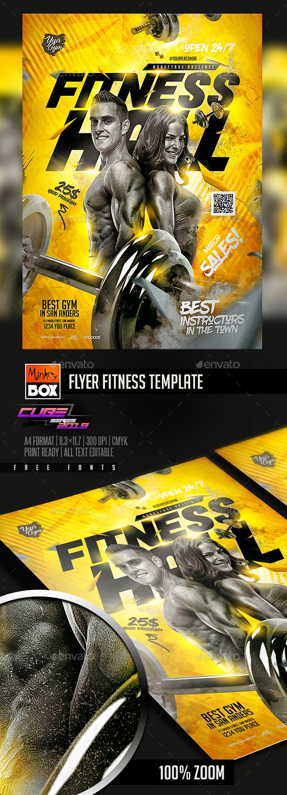 Flyer Fitness Template - Sports Events