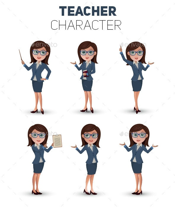 Teacher Character - People Characters