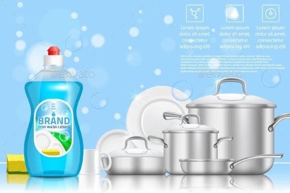 Dishwashing Liquid Soap Ad - Miscellaneous Conceptual