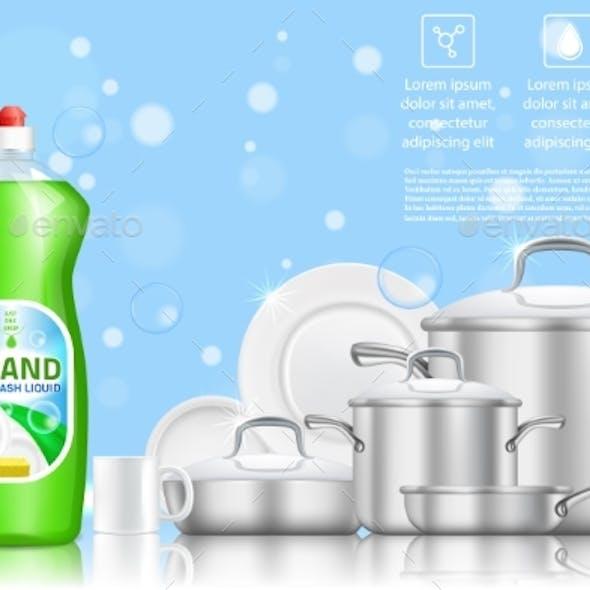 Dishwashing Liquid Soap Ad