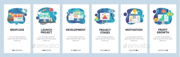 Mobile App Onboarding Screens Business Project - Concepts Business