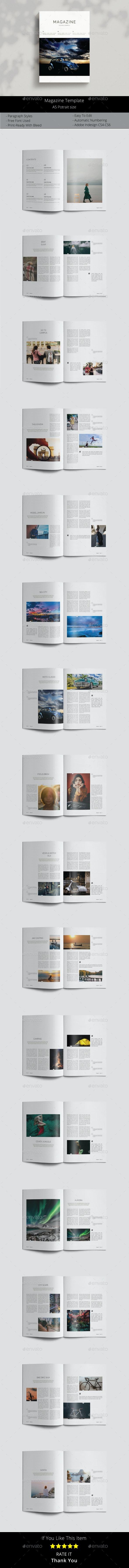 A5 Magazine Template - Magazines Print Templates
