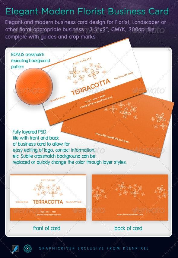 Elegant Modern Florist Business Card - Industry Specific Business Cards