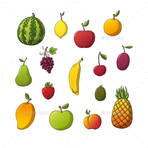 Collection of Some Different Fruits - Food Objects