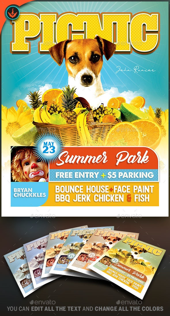 Picnic Flyer Template - Events Flyers
