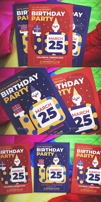 Birthday Party Flyer - Flyers Print Templates