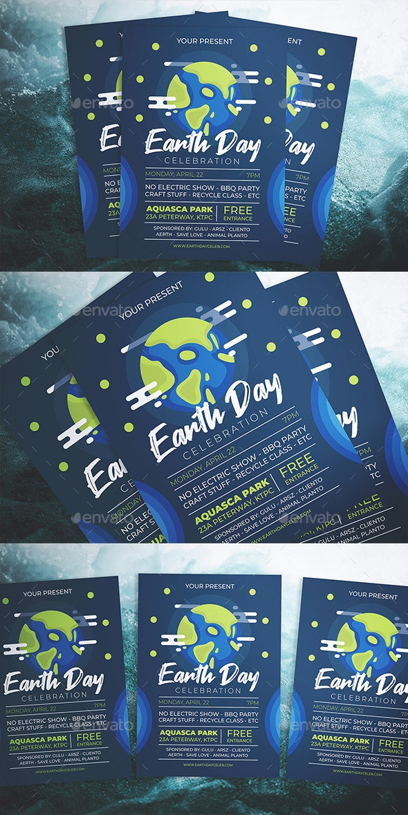 Earth Day Party Flyer - Flyers Print Templates
