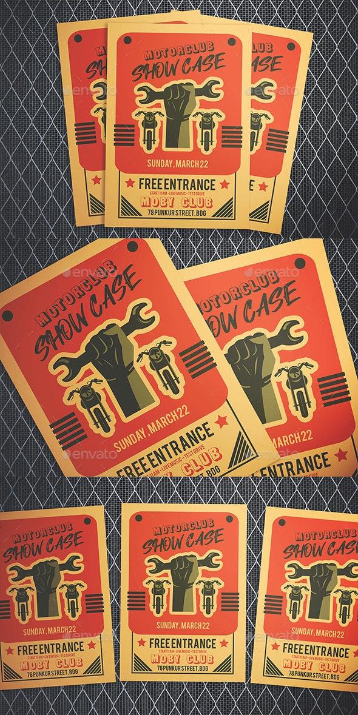 Motorcycle Club Show Flyer - Flyers Print Templates