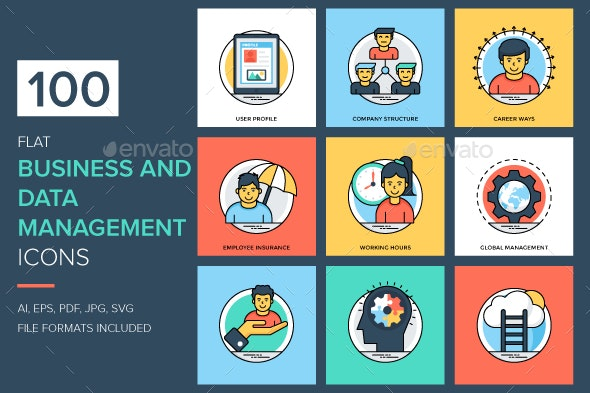 Business and Data Management Icons - Icons