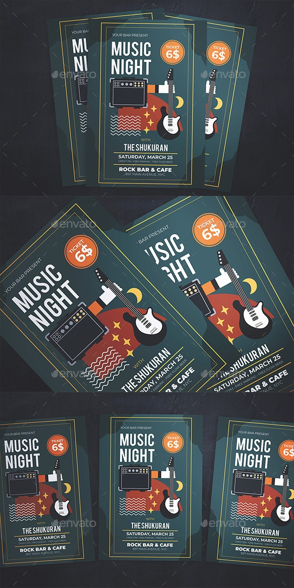 Music Night Flyer - Concerts Events